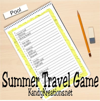 Summer Road Trip Game For Kids