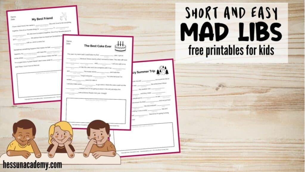 Mad Lib Travel Game For Kids